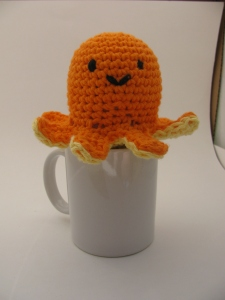 Octopus looks cute on your coffee cup