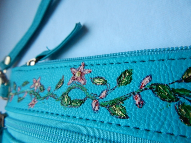 Painted Purse Up Close