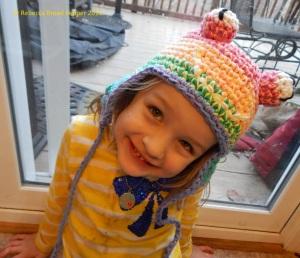 Rainbow Frog Hat Front