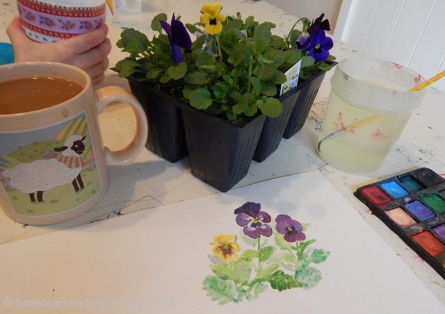 Pansies and Paint