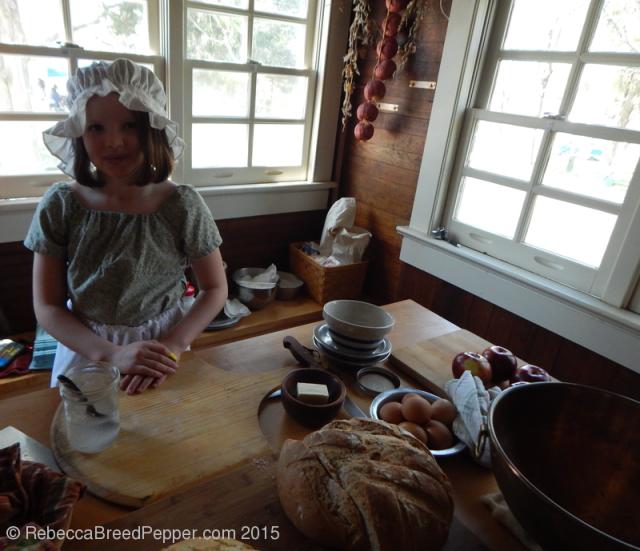 Demonstrating Traditional Bread Baking