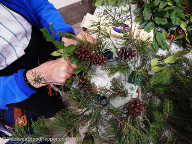 Mom Making Wreath 20151129