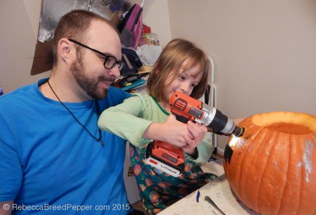 Pumpkin Drilling Too