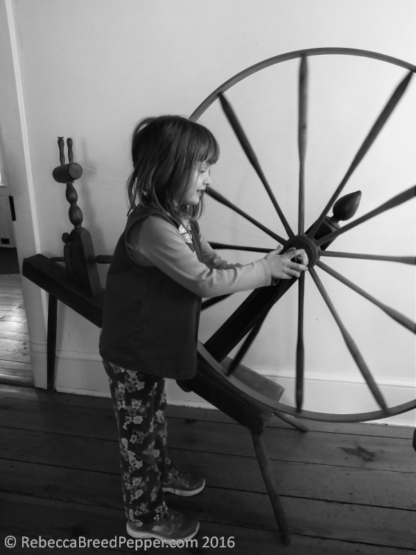Abigail and Spinning Wheel