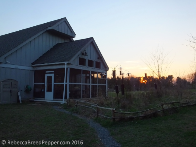 Dusk Behind the Claude Moore Visitor's Center