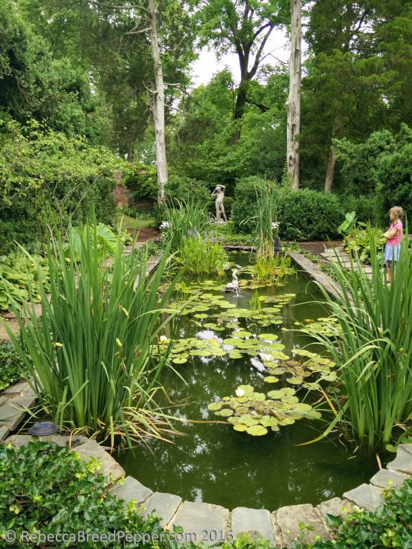 Pond with Statute