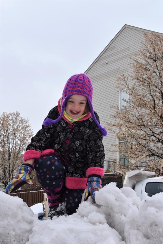 Abba on Snow Pile