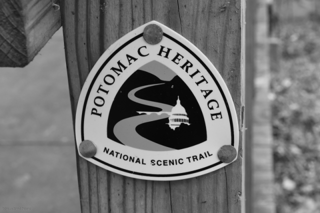 Trail Sign B&W