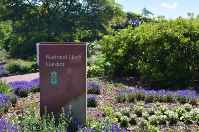 National Herb Garden Sign